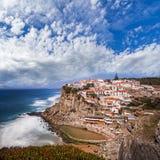 Azenhas. Cliff hanging town, Azenhas do Mar,Portugal Stock Photography
