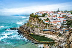 Azenhas do Mar, a beautiful town in the municipality of Sintra, Royalty Free Stock Photos