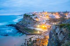 Azenhas do Mar dorp Sintra Portugal royalty-vrije stock foto