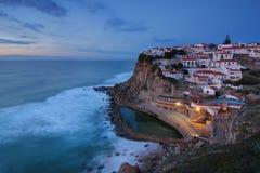 Azenhas do Mar at dusk Stock Image