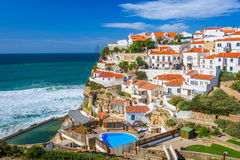 Azenhas do Mar, Portuga Royalty Free Stock Images