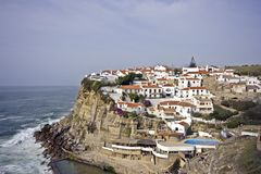 Azenhas do Mar in Portugal Royalty Free Stock Photo