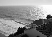 Azenhas do Mar. Portugal. B&W bw black and white royalty free stock image