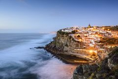 Azenhas Do Mar, Portugal. Azenhas Do Mar, Sintra, Portugal townscape on the coast royalty free stock image