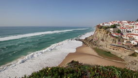 Azenhas do Mar, Sintra, Portugal coastal town. stock video