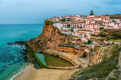 Azenhas do Mar town, Portugal stock photos
