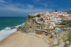azenhas do mar portugal Royalty Free Stock Photo