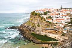 Azenhas do Mar village Sintra Portugal. Azenhas do Mar village, Sintra Portugal royalty free stock photos