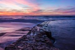 Azenhas estropea puesta del sol Fotografía de archivo