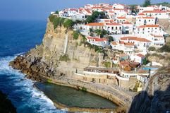 Azenhas Mąci, piękny miasteczko w zarządzie miasta Sintra Fotografia Royalty Free
