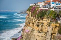 Azenhas Mąci, Portugalia miasteczko przybrzeżne Zdjęcia Stock