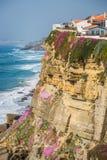 Azenhas Mąci, Portugalia miasteczko przybrzeżne Obrazy Stock