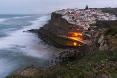 azenhas muddy Portugalia Obrazy Royalty Free