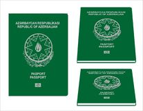 Azerbaigan Passport Stock Images