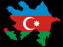 azerbaijan översikt royaltyfri illustrationer