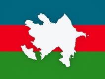 azerbaijan översikt vektor illustrationer