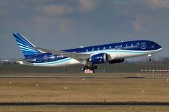 Azerbaijan Airlines Fotografering för Bildbyråer