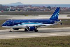 Azerbaijan Airlines Airbus A320 Imagens de Stock
