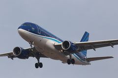 Azerbaijan Airlines Airbus A319-100 aircraft Royalty Free Stock Photos