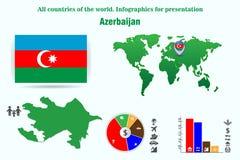 azerbaijan Alle landen van de wereld Infographics voor presentatie vector illustratie