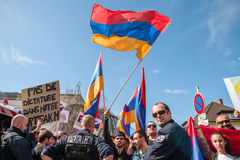Azerbaijan Armenia conflict protest Royalty Free Stock Images