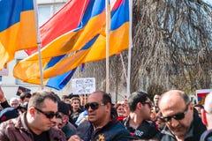 Azerbaijan Armenia conflict protest Royalty Free Stock Photo