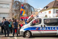 Azerbaijan Armenia conflict protest Royalty Free Stock Photos
