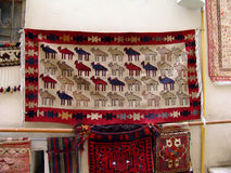 Azerbaijan. Baku. Carpet shop in old city Royalty Free Stock Photo