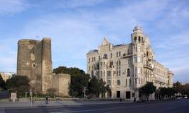 azerbaijan baku Construindo onde Charles De Gaulle vivido Imagem de Stock