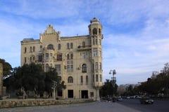 azerbaijan baku Construindo onde Charles De Gaulle vivido Fotos de Stock Royalty Free