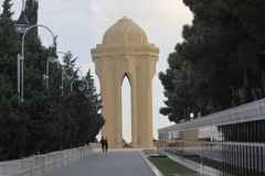 Azerbaijan. Baku.  The eternal flame in the Alley of Martyrs. Royalty Free Stock Image