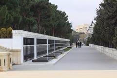 Azerbaijan. Baku.  The eternal flame in the Alley of Martyrs. Stock Photos