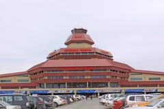 azerbaijan baku Internationale die Luchthaven na Heydar Aliyev wordt genoemd Royalty-vrije Stock Afbeelding