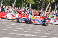 AZERBAIJAN, BAKU - JUNE 17: David Coulthard drive the RB7 of Red. Bull Racing Team, Red Bull Showrun Parade, June 17, 2012 in Baku, Azerbaijan Royalty Free Stock Photography