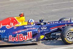 AZERBAIJAN, BAKU - JUNE 17: David Coulthard drive the RB7 of Red royalty free stock image