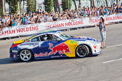 AZERBAIJAN, BAKU - JUNE 17: Ukrainian Drift Champion Alex Grinch Royalty Free Stock Photos