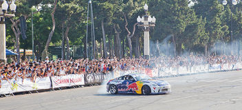 AZERBAIJAN, BAKU - JUNE 17: Ukrainian Drift Champion Alex Grinch Royalty Free Stock Image