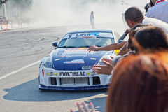 AZERBAIJAN, BAKU - JUNE 17: Ukrainian Drift Champion Alex Grinch Royalty Free Stock Images