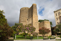 azerbaijan baku Meisjetoren Stock Afbeelding