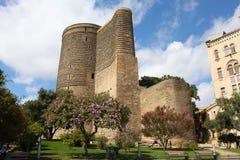 azerbaijan baku Meisjetoren Stock Afbeeldingen