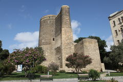 azerbaijan baku Meisjetoren Stock Foto's