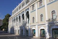 azerbaijan baku Museum van de Literatuur van Azerbeidzjan na Nizami wordt genoemd die Stock Foto