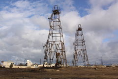 azerbaijan baku Nosso petróleo da indústria Fotografia de Stock Royalty Free