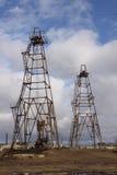 azerbaijan baku Nosso petróleo da indústria Imagem de Stock Royalty Free