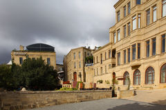 azerbaijan baku straat veiw Stock Foto's