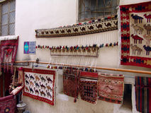 azerbaijan baku Tapijtwinkel in oude stad Royalty-vrije Stock Afbeelding