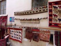 azerbaijan baku Teppichshop in der alten Stadt Lizenzfreies Stockbild