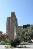 azerbaijan baku Torre nova Imagens de Stock Royalty Free