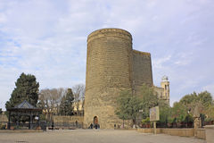 azerbaijan baku Torre virginal Imagen de archivo