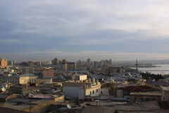 azerbaijan baku Veiw bij benedenstad Stock Fotografie